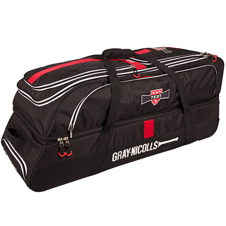 Gray-Nicolls Cricket Test Holdall Black_red_white Front