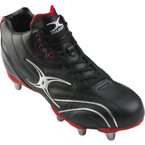 Gilbert Rugby Sidestep Zenon Black Red Mid HT