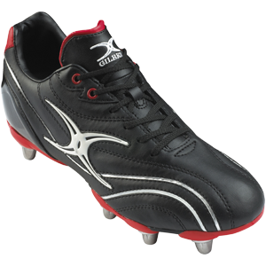Gilbert Rugby Sidestep Zenon Black Red