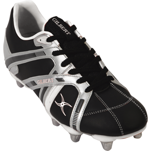 Gilbert Rugby Omega Black Silver Green