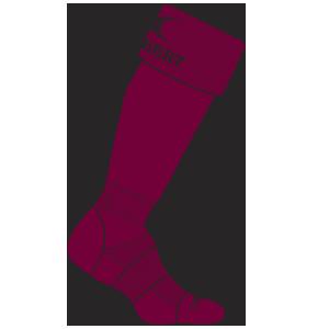 Gilbert Rugby Kryten Sock Maroon