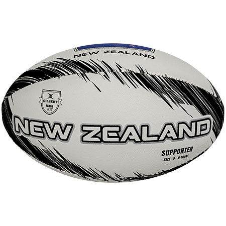 Gilbert Rugby SUPPORTER NEW ZEALAND SZ 5 VIEW 1