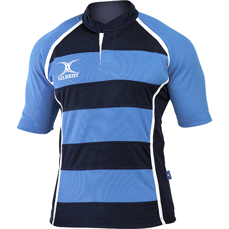 Gilbert Rugby Ii Hooped Shirt Light Sky Dark Navy Main