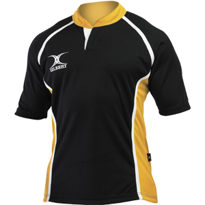 Gilbert Rugby Clothing Xact Shirt Black Amber