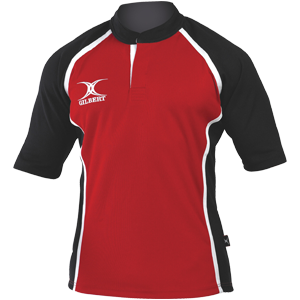 Gilbert Rugby Xact Shirt Red Black