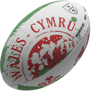 Gilbert Rugby Welsh Flag Ball