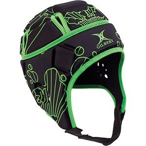 Attack Blitz Black Green Headguard