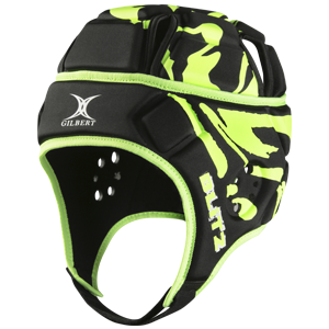 Attack Blitz Black Lime Headguard