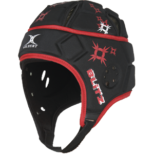Attack Blitz Black Red Headguard