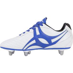 Gilbert Rugby SideStep XV LO 6S Blue White Shoe Instep