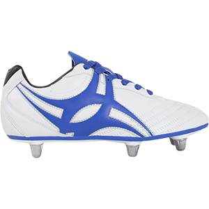 Gilbert Rugby SideStep XV LO 6S Blue White Shoe Outstep