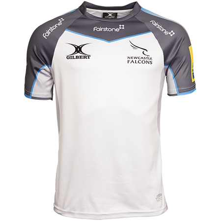 Gilbert Rugby newcastle falcons 15 away jersey front