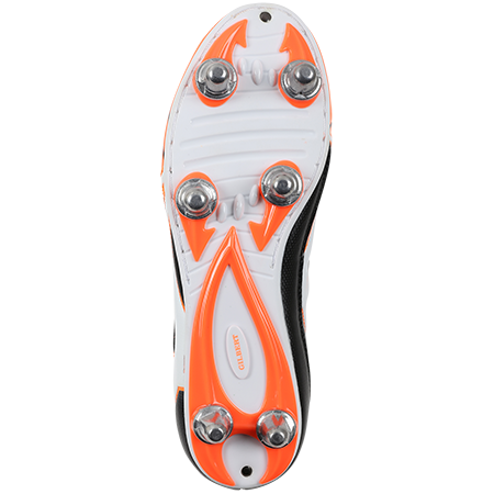 Gilbert Rugby EVO MK2 6S ORANGE BOTTOM VIEW