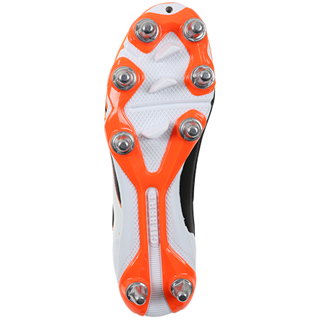 Gilbert Rugby EVO MK2 8S ORANGE BOTTOM VIEW