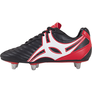 Gilbert Rugby SideStep XV LO 6S Black Red Shoe Instep