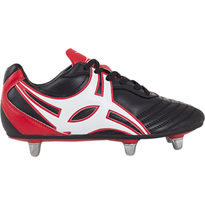 Gilbert Rugby SideStep XV LO 6S Black Red Shoe Outstep