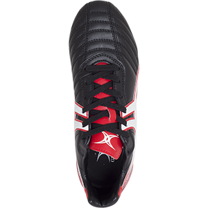 Gilbert Rugby SideStep XV LO 6S Black Red Shoe Top