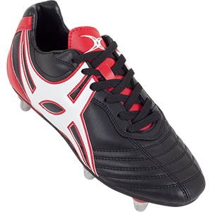 Gilbert Rugby SideStep XV LO 6S Black Red Shoe
