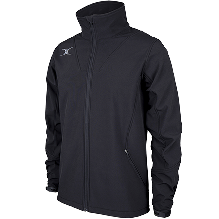 Gilbert Rugby Clothing Pro Shell Full Zip Black Main
