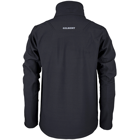 Gilbert Rugby Clothing Pro Shell Full Zip Black, Back