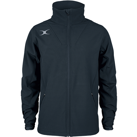 Gilbert Rugby Clothing Pro Shell Full Zip Dark Navy, Front