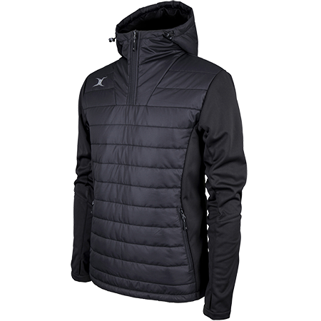 Gilbert Rugby Clothing Pro Shell Quarter Zip Black Main