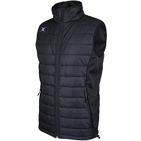 Gilbert Rugby Clothing Pro Bodywarmer Black Main