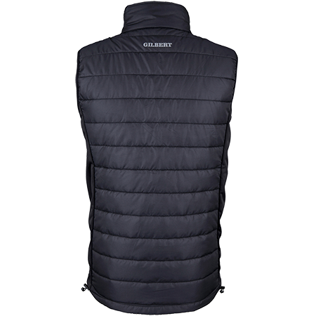 Gilbert Rugby Clothing Pro Bodywarmer Black, Back