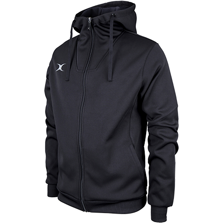 Gilbert Rugby Clothing Pro Technical Hoodie Full Zip Black Main