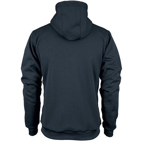 Gilbert Rugby Clothing Pro Technical Hoodie Full Zip Dark Navy, Back