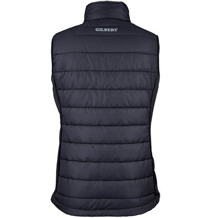 Gilbert Rugby Clothing Pro Bodywarmer Ladies Black, Back