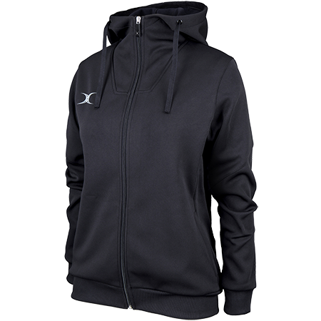 Gilbert Rugby Clothing Pro Technical Hoodie Full Zip Ladies Black Main