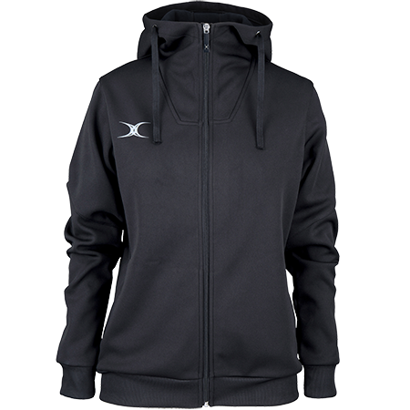 Gilbert Rugby Clothing Pro Technical Hoodie Full Zip Ladies Black, Front