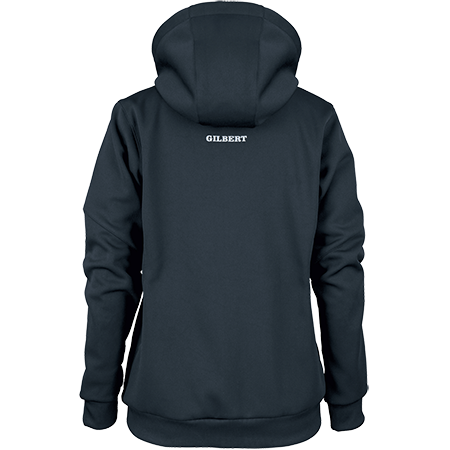Gilbert Rugby Clothing Pro Technical Hoodie Full Zip Ladies Dark Navy, Back