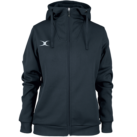 Gilbert Rugby Clothing Pro Technical Hoodie Full Zip Ladies Dark Navy, Front