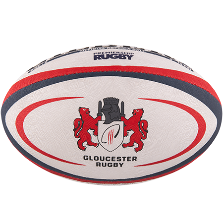 Gilbert Rugby Replica Gloucester Size 5 Panel 1