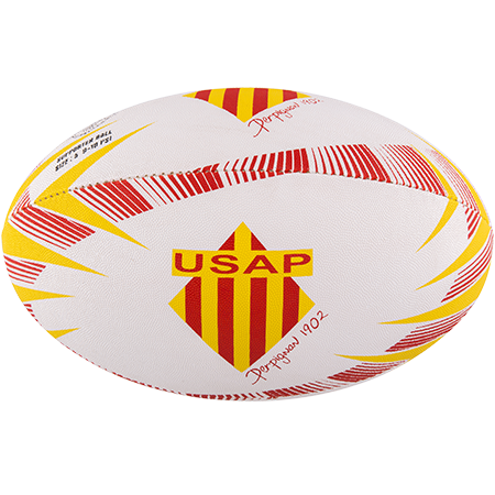 Gilbert Rugby Supporter Perpignan Size 5 Panel 1