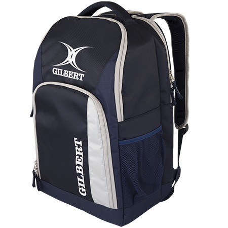Gilbert Rugby Club Rucksack V3 Navy Front