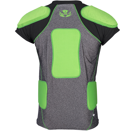 Gilbert Rugby Armour Contact Short Sleeve Trilite V2 Back