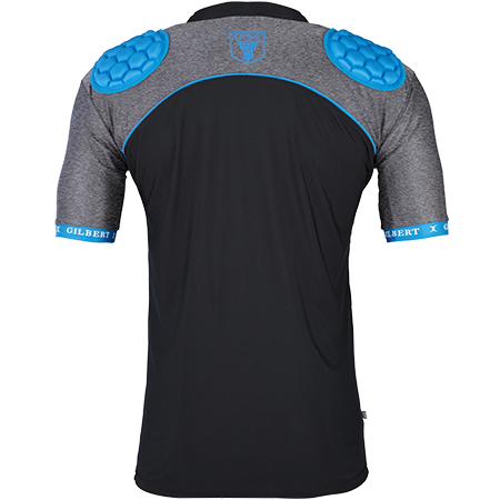 Gilbert Rugby Armour Atomic V3 Black_blue Back