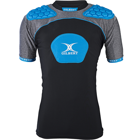 Gilbert Rugby Armour Atomic V3 Black_blue Front
