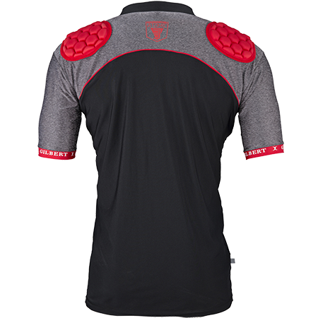 Gilbert Rugby Armour Atomic V3 Black_red Back