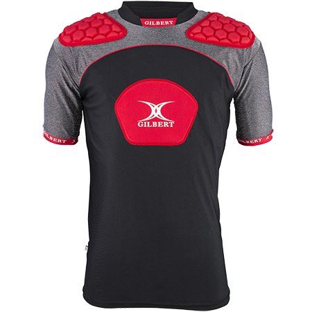 Gilbert Rugby Armour Atomic V3 Black_red Front