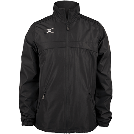 Gilbert Rugby Clothing Photon Mens Full Zip Black Front