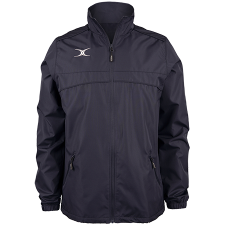 Gilbert Rugby Clothing Photon Mens Full Zip Dark Navy Front