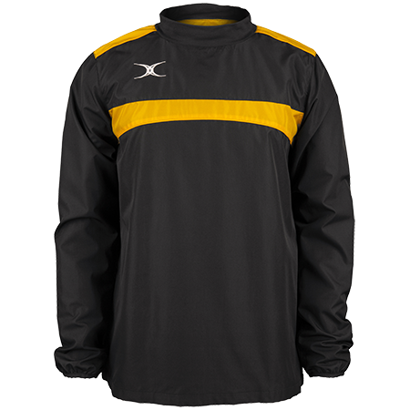 Gilbert Rugby Clothing Photon Mens Warm Up Black & Gold Front