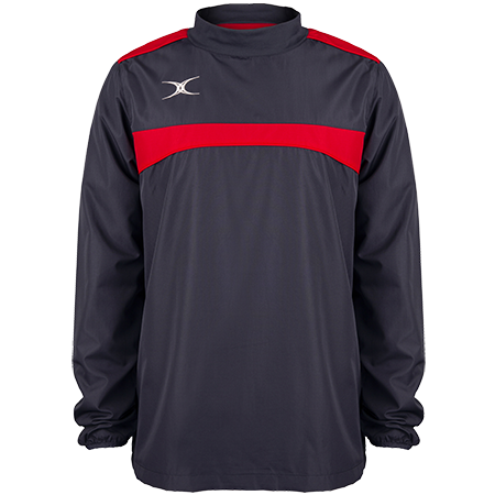 Gilbert Rugby Clothing Photon Mens Warm Up Dark Navy & Red Front
