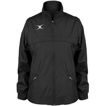 Gilbert Rugby Clothing Photon Ladies Full Zip Black Front