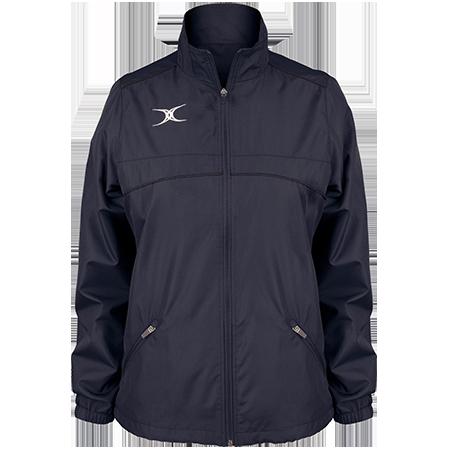 Gilbert Rugby Clothing Photon Ladies Full Zip Dark Navy Front
