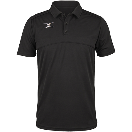 Gilbert Rugby Clothing Photon Mens Polo Black Front